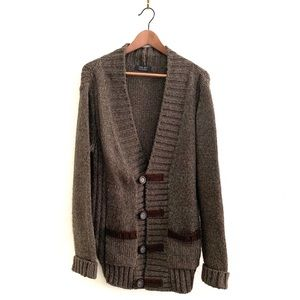 Zara Long Boyfriend Cardigan Wool Blend Men's Size